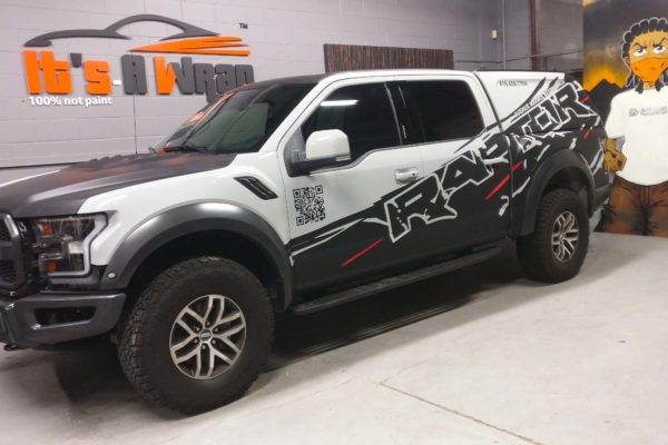 Ford Raptor Custom design Avery matt black wrap