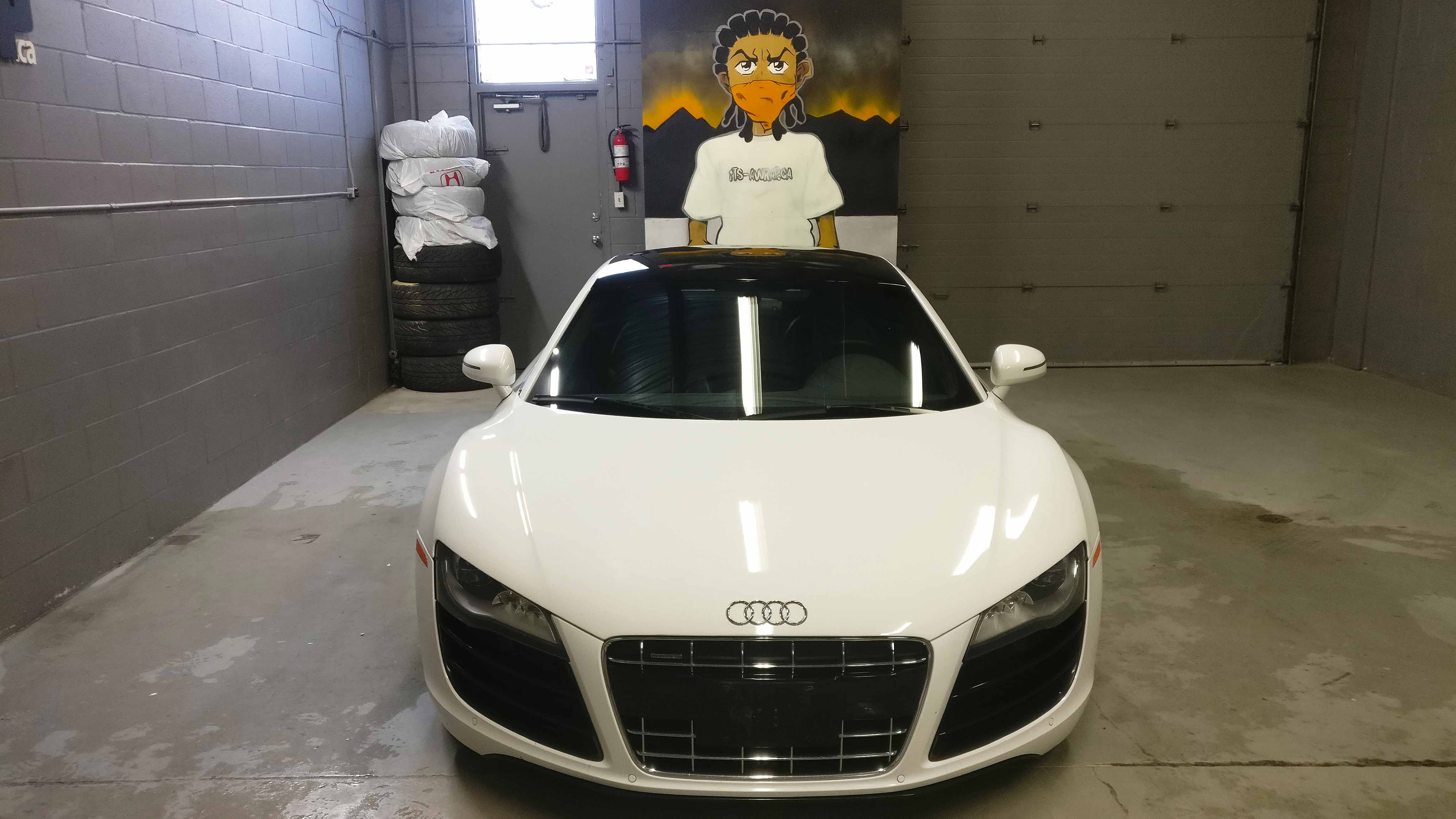 Audi R8 Roof wrap Avery gloss black