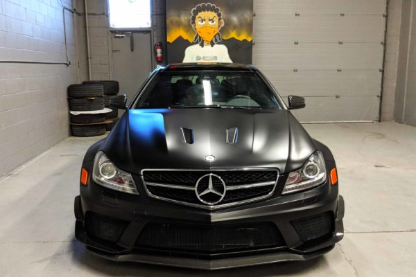 Mercedes Benz C63 wide body black series Xpel paint protection film wrap