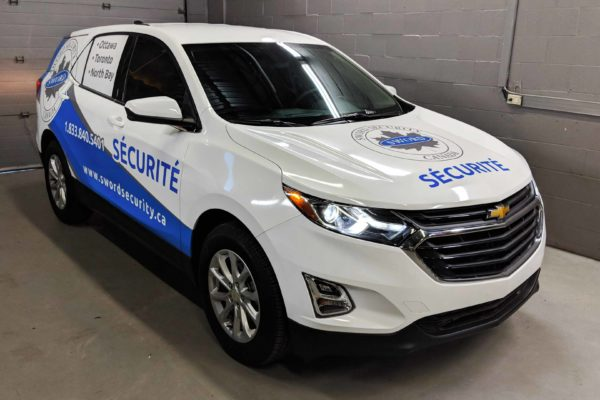 Chevy Equinox branding wrap with custom printed graphics