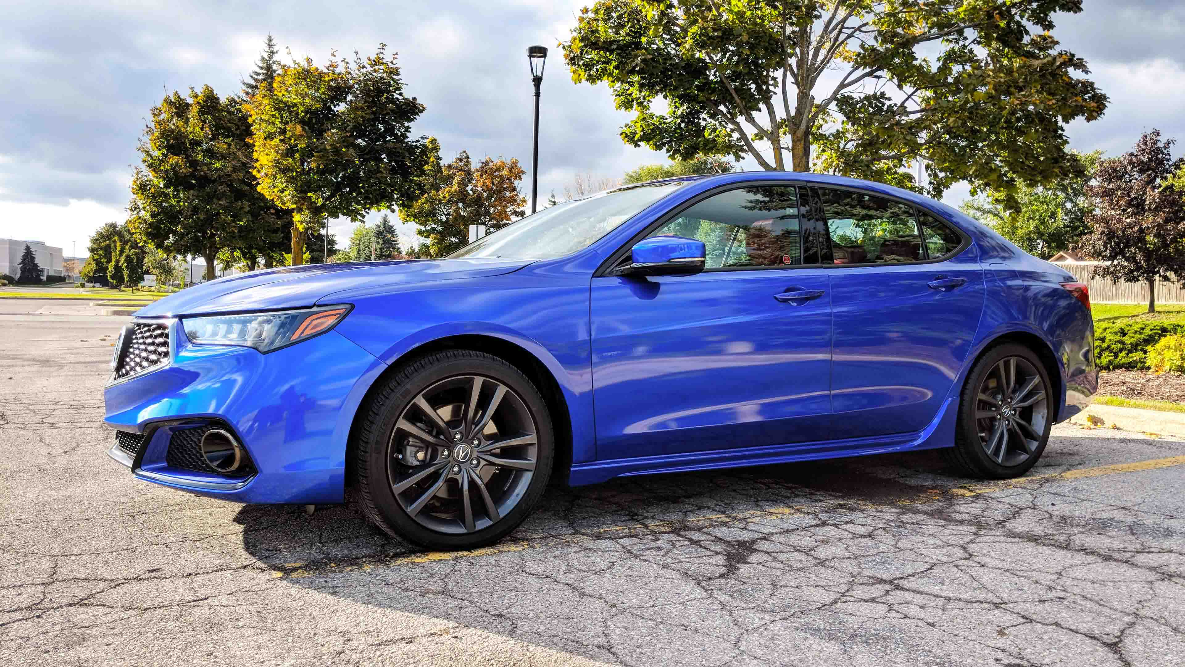 Acura TLX 3m raspberry blue wrap