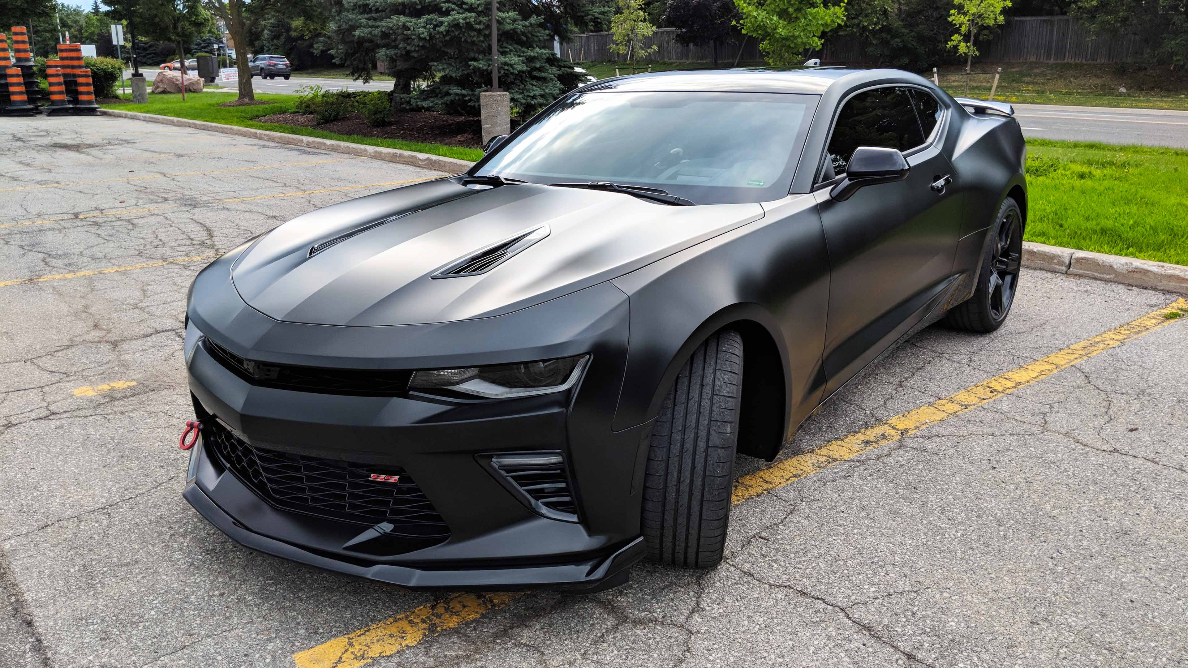 Chevy Camaro Avery satin black wrap